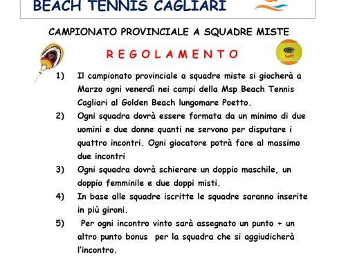 CAMPIONATO BEACH TENNIS SQUADRE MISTE MSP MARZO 2018