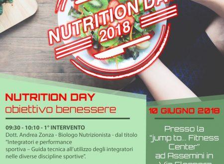 JUMP to Nutrition DAY! Obiettivo Benessere
