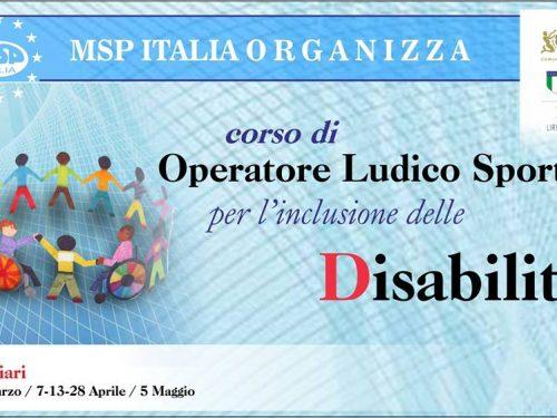 Corso operatore Ludico-Sportivo per l'Inclusione delle disabilità